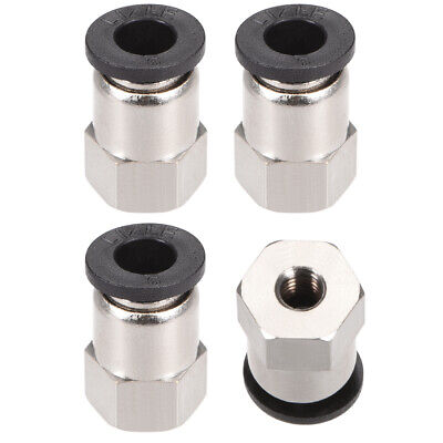 Push to Connect Tube Fitting Adapter 6mm OD x M5 Female 4pcs