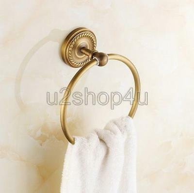 Bathroom Accessories Wall Mounted Antique Brass Towel Ring/Towel Holder Uba273