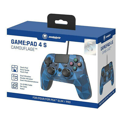 Snakebyte Camo Blue Wired Controller for PS4 & PS3 NEW