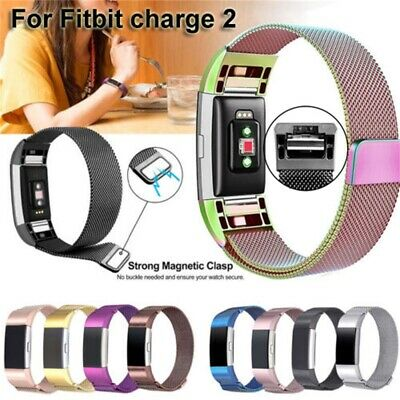 Stainless Steel Milanese Magnetic Loop Band For Fitbit Charge 2 Wristband