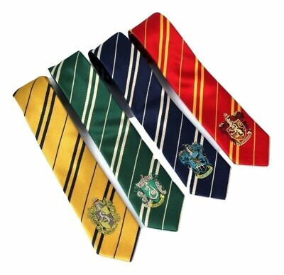 Fancy Dress Cosplay Happy Potter Style House Ties Book Day Silk Feeling Fashion