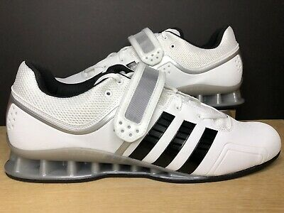 264ba22ffd58 Adidas AdiPower Weightlifting Powerlift Trainer Shoes White M25733 Size 11.5