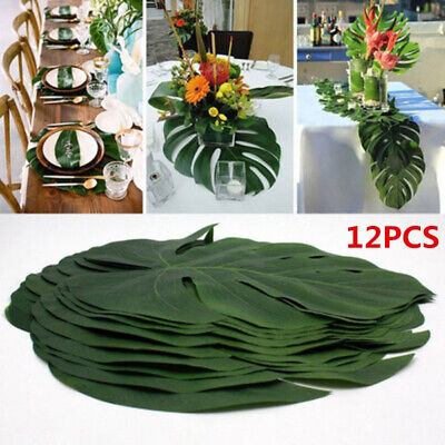 Artificial Jungle Leaf Green Plants Tropical Palm Leaves Island Style Home Decor