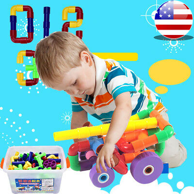 Toy Building Blocks Set 3D Tiles DIY Toys Great Gift For Kids