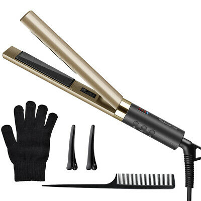 2 in 1 Hair Straightener&Curler, Professional Ceramic Flat Iron with LCD Display