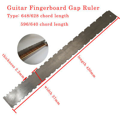 Guitar Bass Neck Fingerboard Frets Knife Edge Ruler Stainless Steel Horizontal