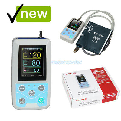 ABPM50 Arm 24h NIBP Ambulatory Blood Pressure Monitor+PC Software+adult 2019 NEW