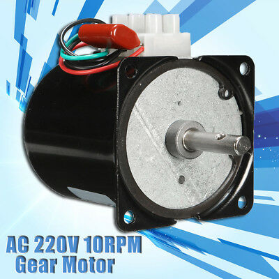 High Torque AC220V 10RPM Gear-Box Synchronous Gear Electric Motor Speed Reducing