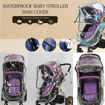 Waterproof Universal Rain Cover Wind Dust Shield For Baby Strollers Pushchairs