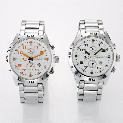 CURREN  Luxury Mens Watches Quartz Analog Chronograph Dial Waterproof Wristwatch