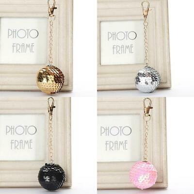 Round Ball Keychain Glitter Sequins Key Chain Gifts Car Bag Accessories Key Ring