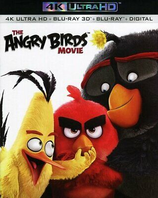 The Angry Birds Movie (3 Disc With 3D Blu-ray + Blu-ray) 4K ULTRA HD BLU-RAY NEW
