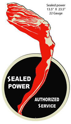 Sealed Power Service Cut Out Reproduction Garage Metal Sign 13.5x23.5