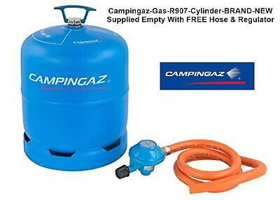 Campingaz Gas R907 Cylinder-BRAND NEW-Supplied Empty With FREE Hose & Regulator