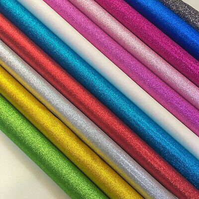 Glitter Synthetic Leather Fabric Party Wedding Decor DIY Hair Bow Materials