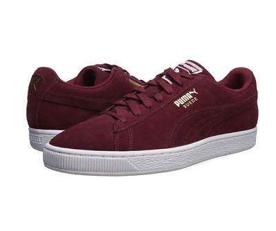 bc31efe1e71d PUMA SUEDE CLASSIC + Cabernet Burgundy White Gold Mens Size Sneakers ...