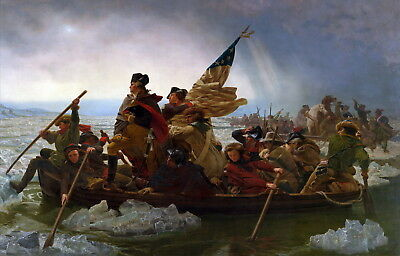 Canvas print old master Emanuel Leutze Washington Crossing the Delaware painting