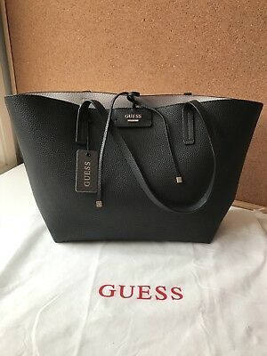 96748d3c5 Guess Handbag Reversible Tote Two Pieces Bnwt Black White Authentic Sold Out