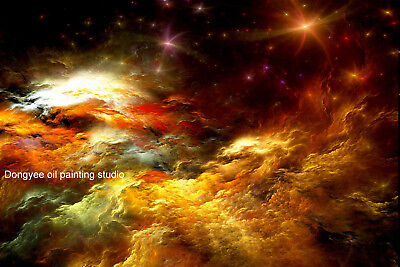 """Fantasy art canvas prints Starry night cloud sky space Giclee wall DECO 24""""x36"""""""