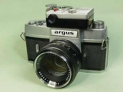 Argus (Mamiya Prismat) camera with f1.7 58mm Argus-Sekor lens and meter