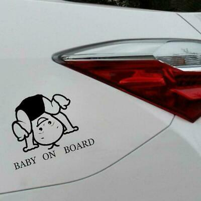 BABY ON BOARD Funny Fun Window Decal Vinyl Lovely Boy Sticker 15CM x 11.5CM