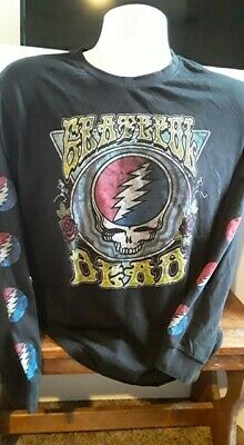 Grateful Dead Steal Your Face Long Sleeve Licensed Shirt-Size XL-Peace Jerry
