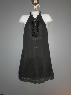 196e648d2bb Women s SUGAR LIPS Black Halter style embellished neckline dress size Small