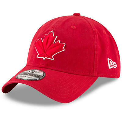 new concept d00fb b08b8 Toronto Blue Jays New Era 9TWENTY Strapback Adjustable Red Hat Dad Cap
