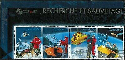 Canada Sc#2111i Search And Rescue, Strip of 4, French Header, Used
