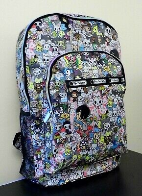 0b638bce11e LADIES GIRL BOY Funky Retro Cartoon Colourful Backpack Rucksack school bag