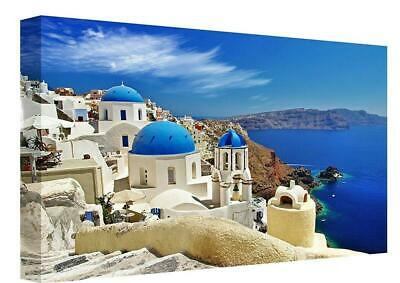 "Stunning Santorini Greece Printed Canvas Picture A1.30/""x20/"" 30mm Deep"