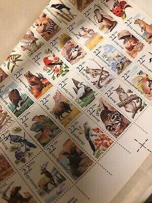 New 100 Assorted Mixed, Multiples & Singles of 22 ¢ Cents US Stamps. FV $22.00