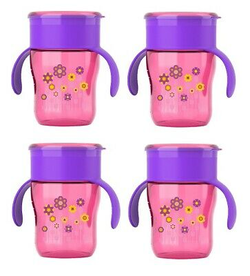 Philips Avent My First Big Kid Cup 360degree, 9m+  9 Oz Pink SCF782/54 (4 Pack)