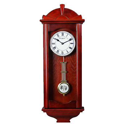 Traditional Full Size Wooden Pendulum Wall Clock - Westminster Chime
