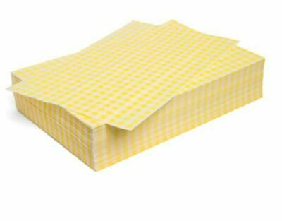 "Duplex Yellow Gingham Wrapping Sheets 10"" x 15"" (2024 pack)"