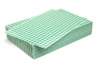 "Duplex Green Gingham Wrapping Sheets 10"" x 15"" (2024 pack)"