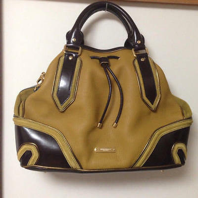 bcd809ea6a84 USED Burberry Prousum ☆ Leather Mustard Bag free shipping Japan mustard ×  brown