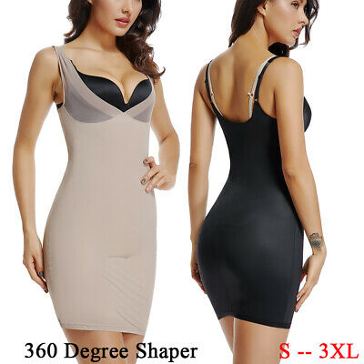 3d02df7de Women Full Body Slip Shaper For Under Dresses Tummy Control Shapewear  Corset 3XL