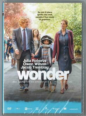 Wonder Julia Roberts Jacob Tremblay 2017 Dvd Nuovo Sigillato