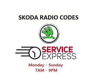 Skoda Radio Code Decode Unlock PIN Swing Bolero Stream Symphony Blues etc