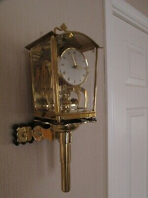 Schatz 53 Anniversary Clock With Schatz Wall Bracket. Working With Key.