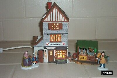 Poulterer Department 56 Dickens Village Series Lighted House Hand Painted