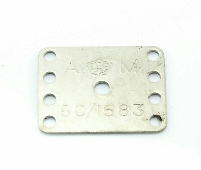 ID Plate Air Ministry Crown Oxygen Mask Plug 5C/1583 RAF Vintage Aircraft Part