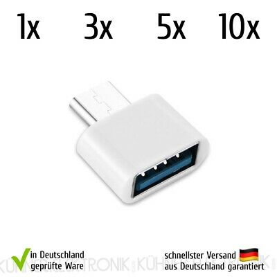 Adapter Typ C auf USB OTG Host Konverter Tablet HTC Macbook Pro Weiß