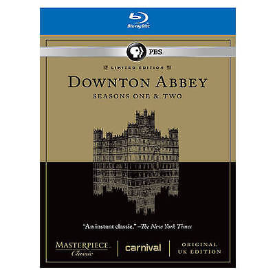 : Downton Abbey - Seasons One & Two  *Like New* w/Slip (Blu-ray Disc, 2012, 5-Di