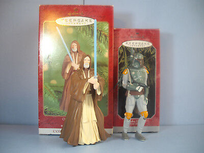 Star Wars Christmas Hallmark Keepsake ornament Boba Fett & Obi-Wan Kenobi