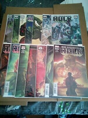 Immortal Hulk 1 2 3 - 15 Plus Variants ALL 1ST PRINTINGS! UNREAD!