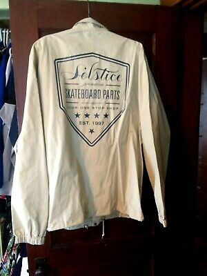 Solstice Skateboarding Man's Rubber Rain Jacket Size XL By Independant Trading