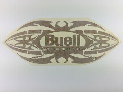 BUELL American Motorcycles Logo Aufkleber mit Tribal / Flames in gold 34 x 13 cm