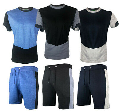 Mens T-Shirt and Short Set Gym Sports Summer Outfit S M L XL XXL